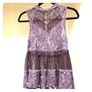 Free People purple lace blouse/tank.